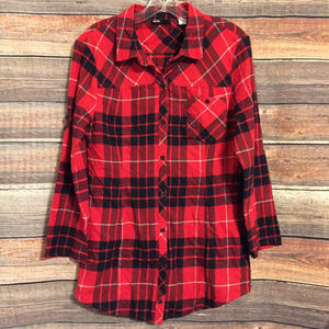 Urban Outfitters BD plaid button down top